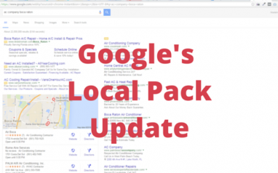 What's Up with Google's Local Pack?